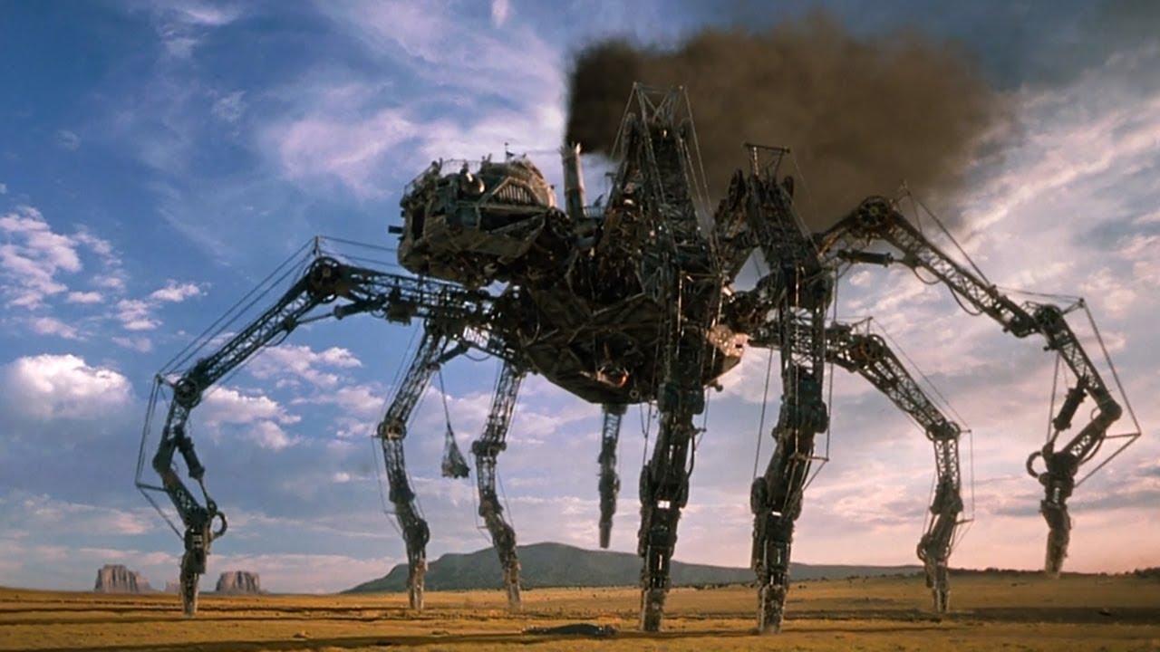 疯狂博士发明巨型钢铁蜘蛛-轻松摧毁了整个小镇-速看科幻电影-飙风战警