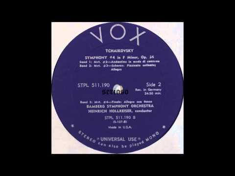 Tchaikovsky, Symphony No 4 Op  36 ,Heinrich Hollreiser, cond, 2,3,4mov