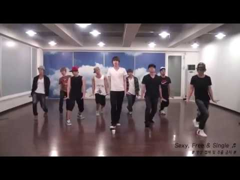 슈퍼주니어(Super Junior) - Sexy Free & Single Dance Practice