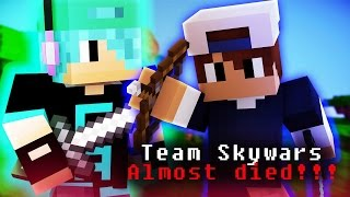Minecraft | Team Skywars! With ChadAlan | ALMOST DIED
