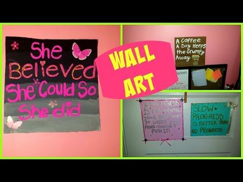 Room Decor - diy  cardboard quotes /Wall art!
