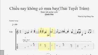 Chiều Nay Không Có Mưa Bay ( Thái Tuyết Trâm ) - TAB Guitar Quân Bùi