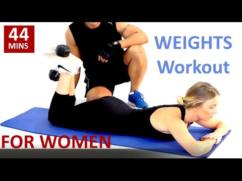 Weights Workout For Women (using dumbbells)