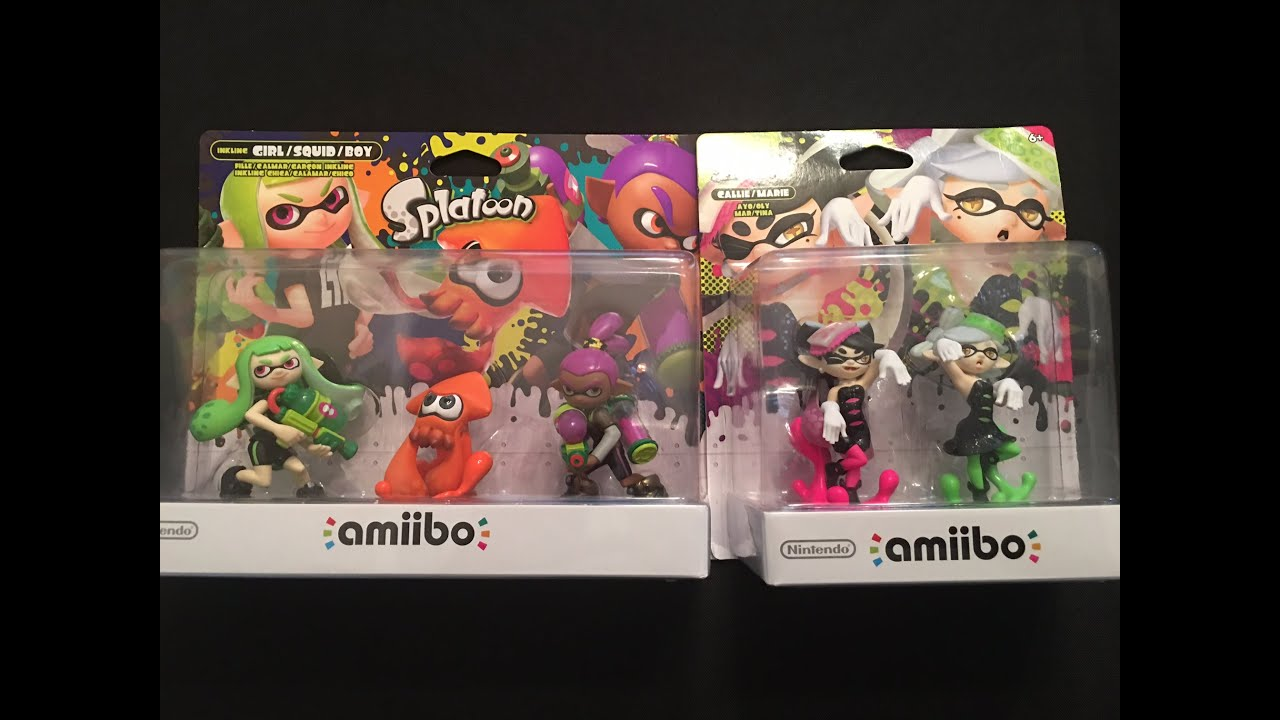 Splatoon Squid Sisters Callie and Marie \u0026amp; Repaint 3 Pack Nintendo ...