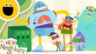 Feed the Recycling Robot | The New Neighbors (Sesame Studios)
