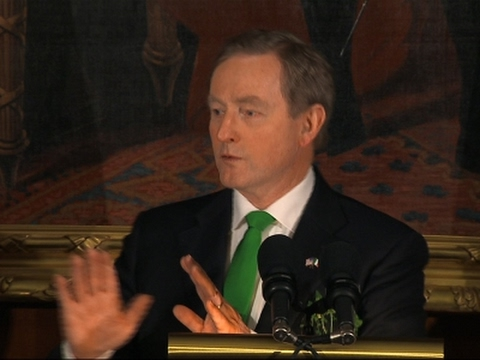 Ireland's Kenny Pushes Trump on Immigration