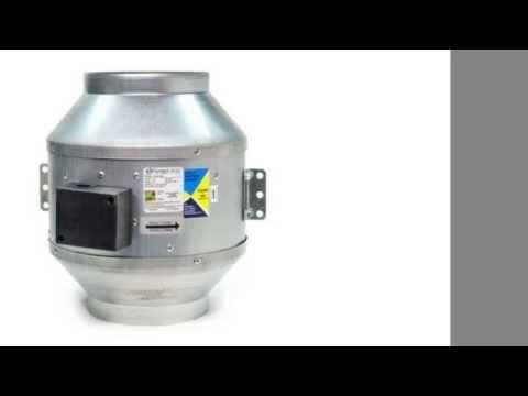 "Fantech FKD 12 Inline Mixed Flow 12"" Duct Fan Ð 1305 CFM 115/1/60"