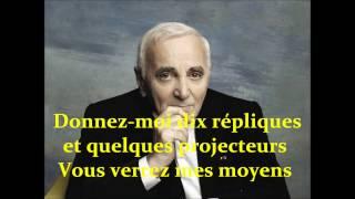 Le cabotin - C.Aznavour Karaoke (L