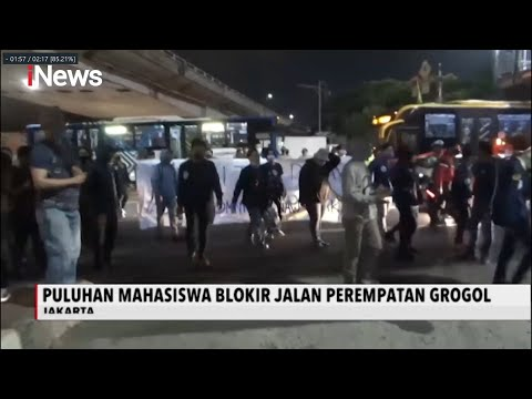 Aksi Tolak UU Cipta Kerja di Grogol, Massa Blokir Jalan Akibatkan Kemacetan - iNews Malam 06/10