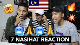 7 Nasihat - Dato' Sri Siti Nurhaliza, Kmy Kmo & Luca Sickta - MALAYSIAN REACTION