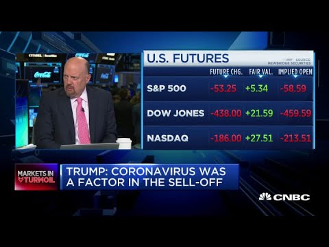 Jim Cramer reacts to President Trump's comments on the market sell-off