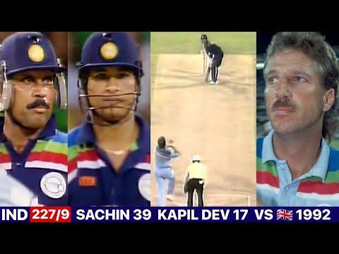 India Vs England World Cup 1992 Match Highlights   What A Nail Biting Thriller Match 😱🔥  Ind Vs Eng