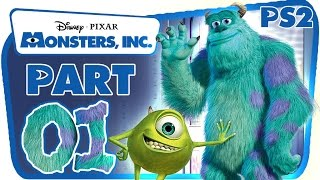 Monsters, Inc. Walkthrough Part 1 (PS2) 100 % Level 1 : Scarefloor