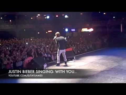 JUSTIN BIEBER SINGING-WITH YOU(THE ENCORE)