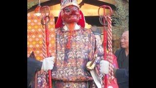 平成26年 山倉大神「山倉の鮭祭り」行列→天狗。