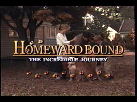 Homeward Bound - The Incredible Journey (1993) Trailer (VHS Capture)