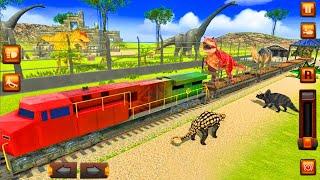 Animal Transporter Train Simulator 2021 - Rescue Dinosaur Transport : Train Animal- Android Gameplay screenshot 1