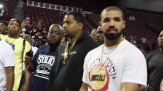 What happens when Drake walks into a charity Basketball Game?