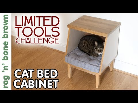Making A Cat Bed Cabinet / HiKOKI Limited Tools Challenge