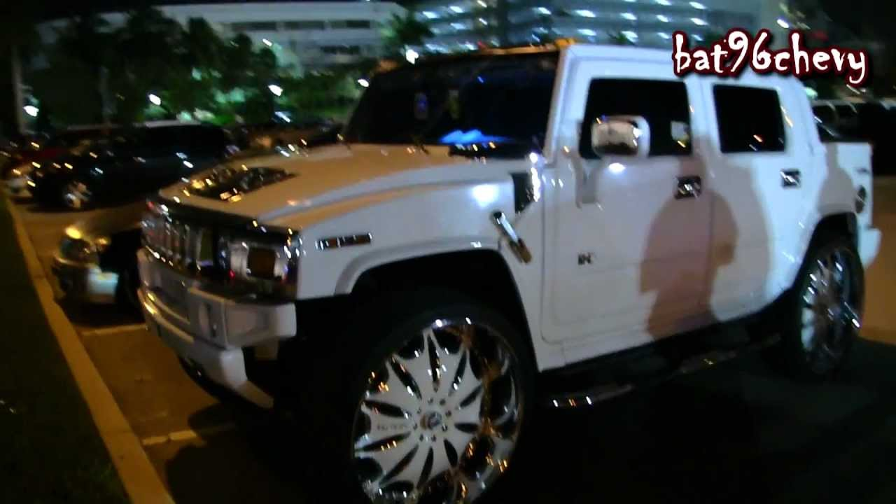 All white hummer h2 sut on 32 asantis 1080p hd youtube vanachro Image collections