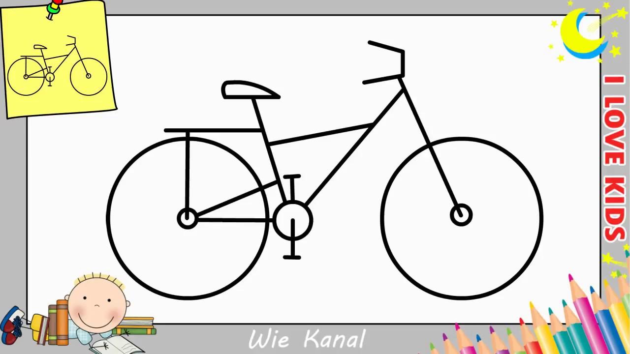 fahrrad zeichnen lernen einfach schritt f r schritt f r anf nger kinder 5 youtube. Black Bedroom Furniture Sets. Home Design Ideas