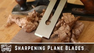 DETAILED: How To Sharpen A Plane Blade SCARY SHARP! // Multiple Methods // Woodworking Basics 101
