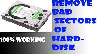 Remove the Bad Sectors of your hard disk on window 7,8.1,10