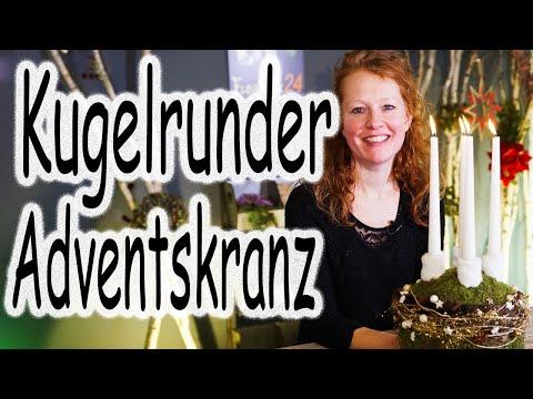 DIY: Weihnachtsdeko | Tischdeko | Adventsdeko | Adventsgesteck Kugel | Adventskranz | Floristik24