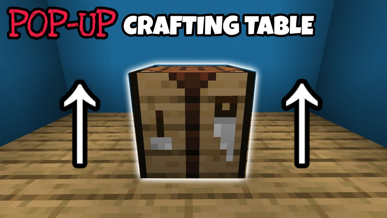 Hidden Pop Up Crafting Table Tutorial In Minecraft Youtube