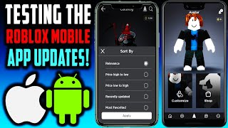 ROBLOX Mobile App! NEW UPDATES! ANDROID & iOS!