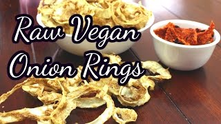 How to make onion rings ll Courgette Batter ll raw vegan ll no oil or salt