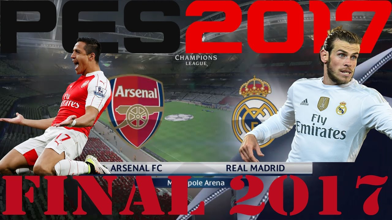 arsenal vs real madrid champions league final 30 05 2017 pes 2017 master league
