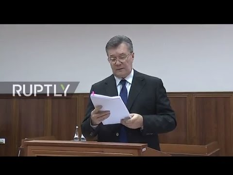 LIVE: Yanukovych testifies in court over Maidan shootings