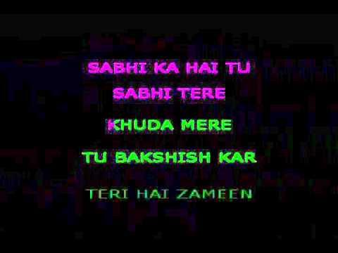 Teri Hai Zameen Tera Aasmaan Karaoke Video Lyrics The Burning Train
