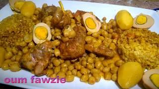 السخينة طبق أصيل من المطبخ المغربي العريق طبق مميز ورائع جدا