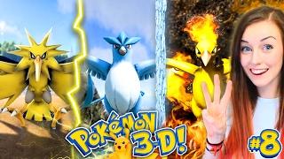 🔥❄⚡LEGENDARY BIRDS SPECIAL!⚡❄🔥 - POKEMON 3D #8!  (Pokemon Ark Mod!)