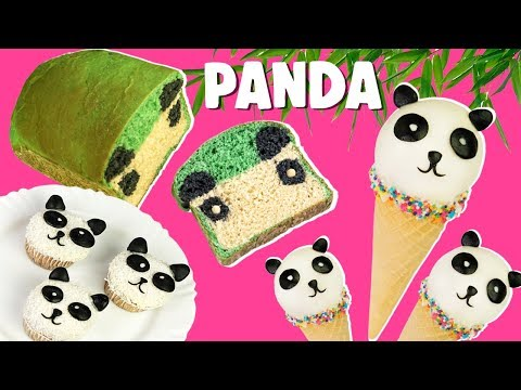 COMIDINHAS FOFAS DE PANDA: pão mágico, sorvete cake pop e cupcakes   Paula Stephânia