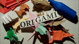 ASMR Interesting origami facts & showing my collection of paper models (soft spoken)