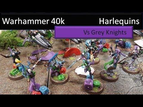 Warhammer 40k 8the Edition Battle Report Harlequins Vs Grey Knights