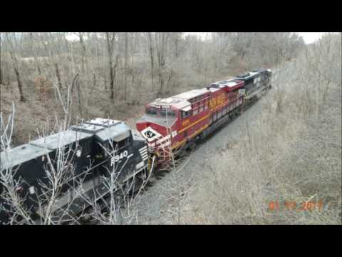 MY BEST TRAIN CHASE EVER - NS LEHIGH VALLEY HERITAGE ES44AC #8104 On 25V From Rootstown To Hudson OH