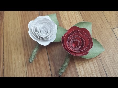 DIY Paper Flowers - 3 Different Flowers