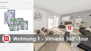 The New Yorker Wiesbaden - Virtuelle 360°-Tour der Gartenwohnung Nr. 1