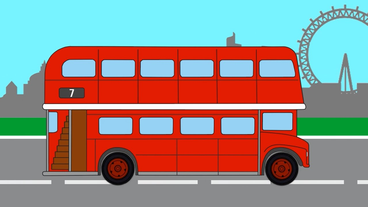 Мультики про Машинки. Раскраски. Красный Лондонский ...