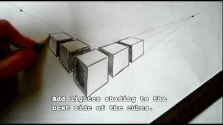 Drawing a Row of Cubes