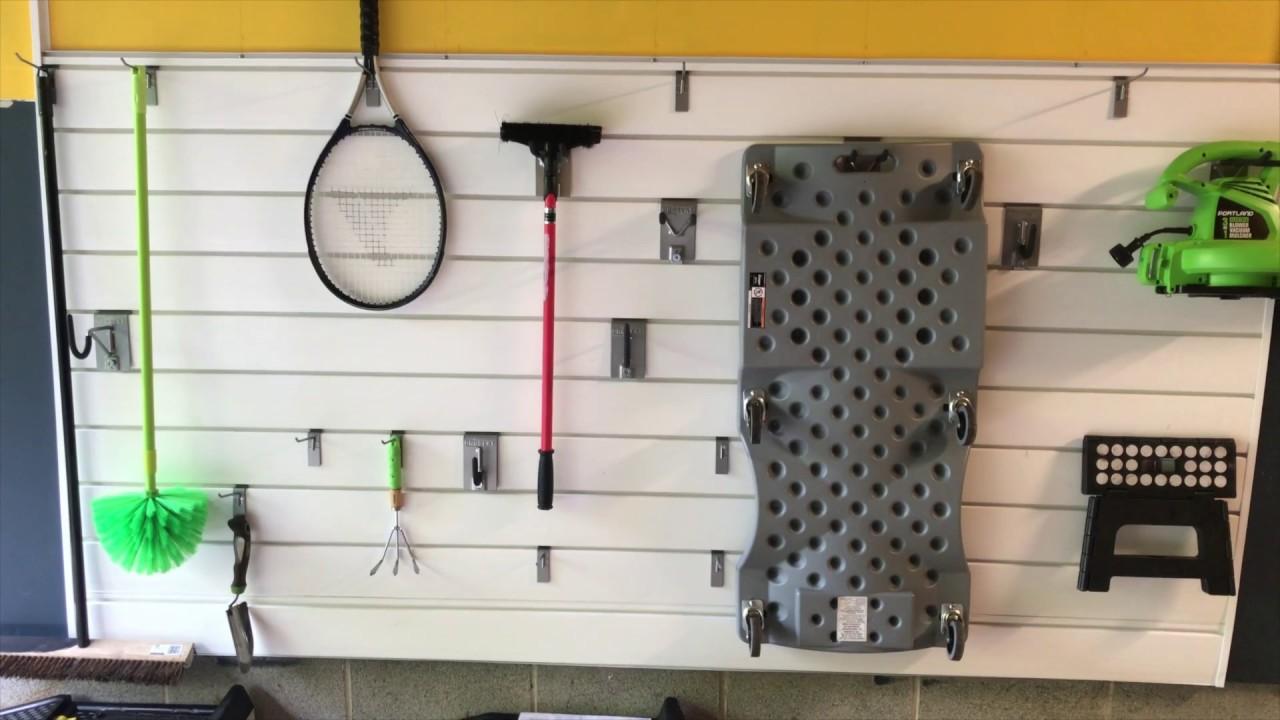 diy garage shop slat wall installation easy and inexpensive diy garage shop slat wall installation easy and inexpensive option to store items in your garage