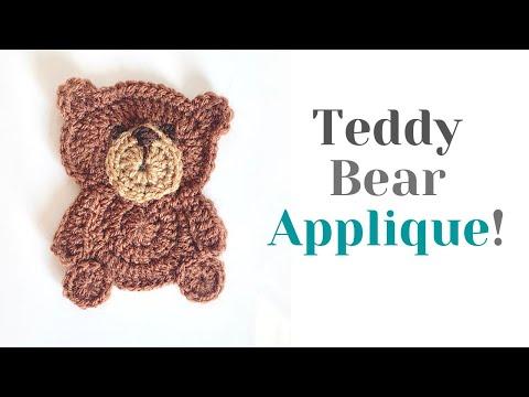 9 Large Crochet Teddy Bear Appliques 9 Colors EA132 | Crochet bear ... | 360x480