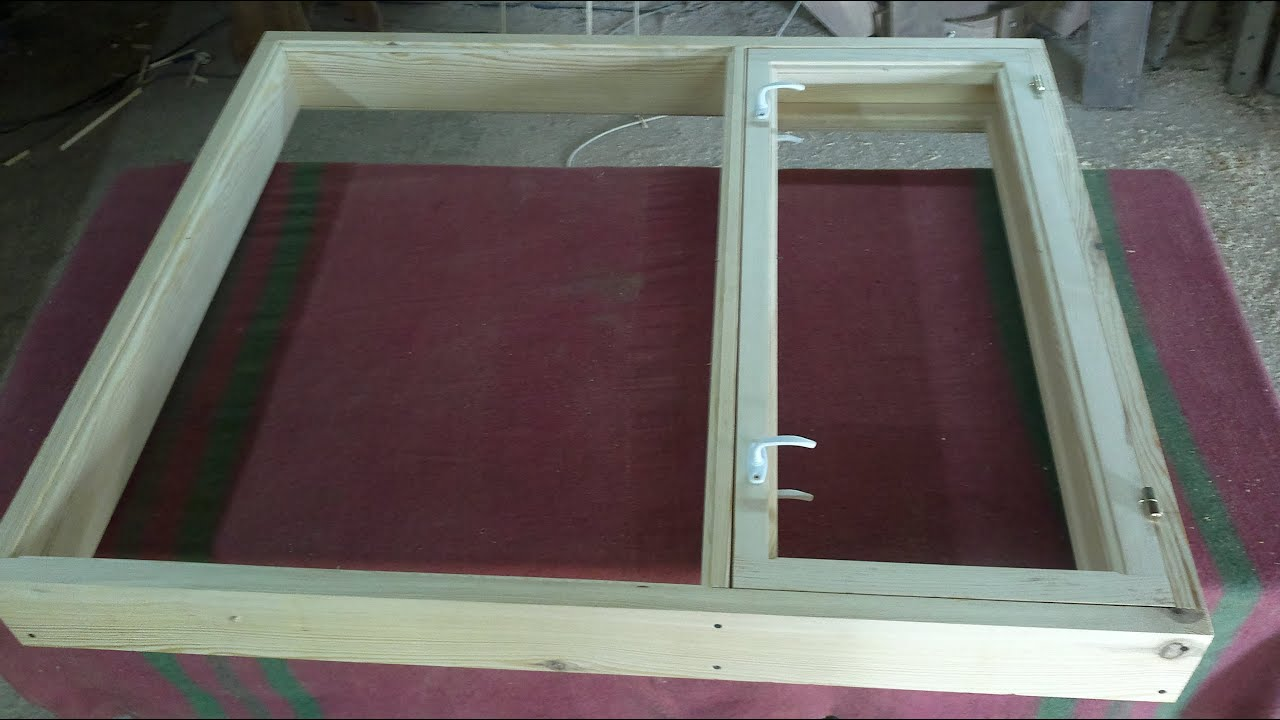 Установка деревянного окна своими руками видео фото 430