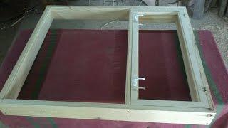 Самое простое деревянное окно с открыванием(Изготовление окна., 2015-06-28T15:49:28.000Z)