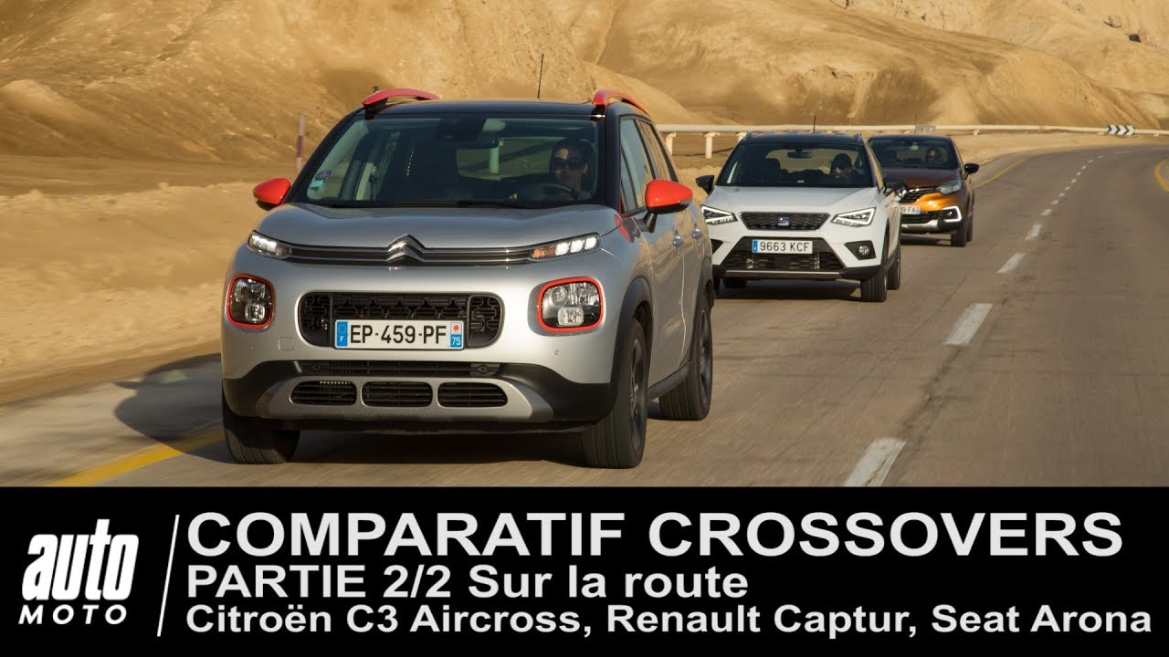 citro n c3 aircross seat arona renault captur comparatif partie 2 2 au volant youtube. Black Bedroom Furniture Sets. Home Design Ideas