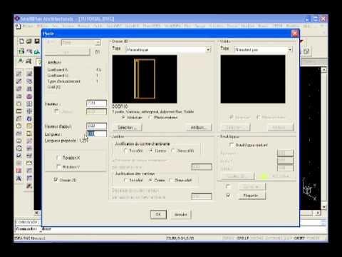 Fen tre 3d porte 3d logiciel architecture 3d en dwg for Porte 3d dwg